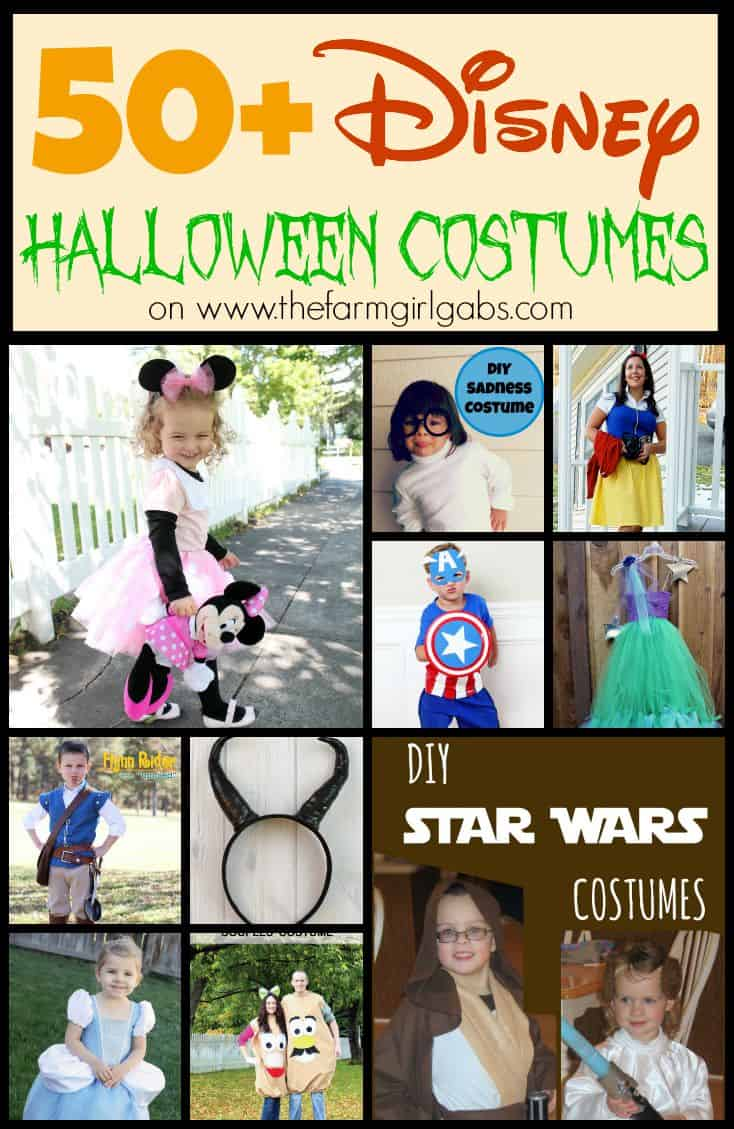 50+ Disney Halloween Costume ideas as seen on www.thefarmgirlgabs.com. Go ahead, show your #DisneySide!