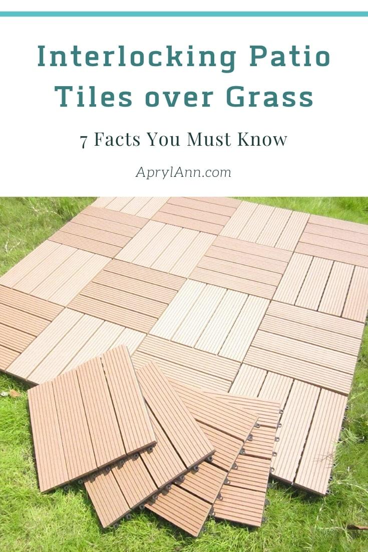 Interlocking Patio Tiles Over Grass