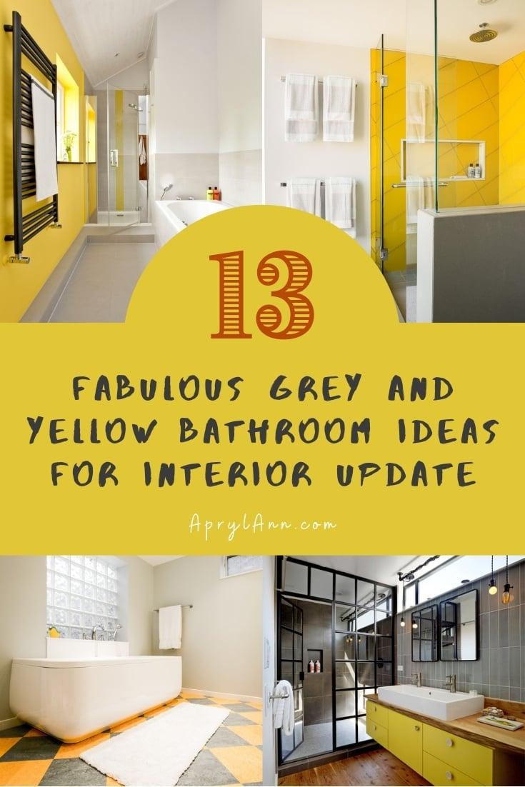 Grey And Yellow Bathroom