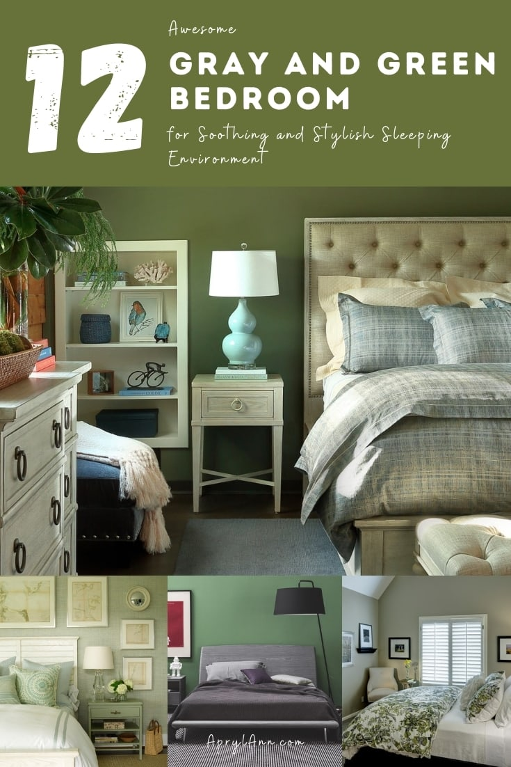 12 Gray And Green Bedroom For Soothing And Stylish Sleeping Environment
