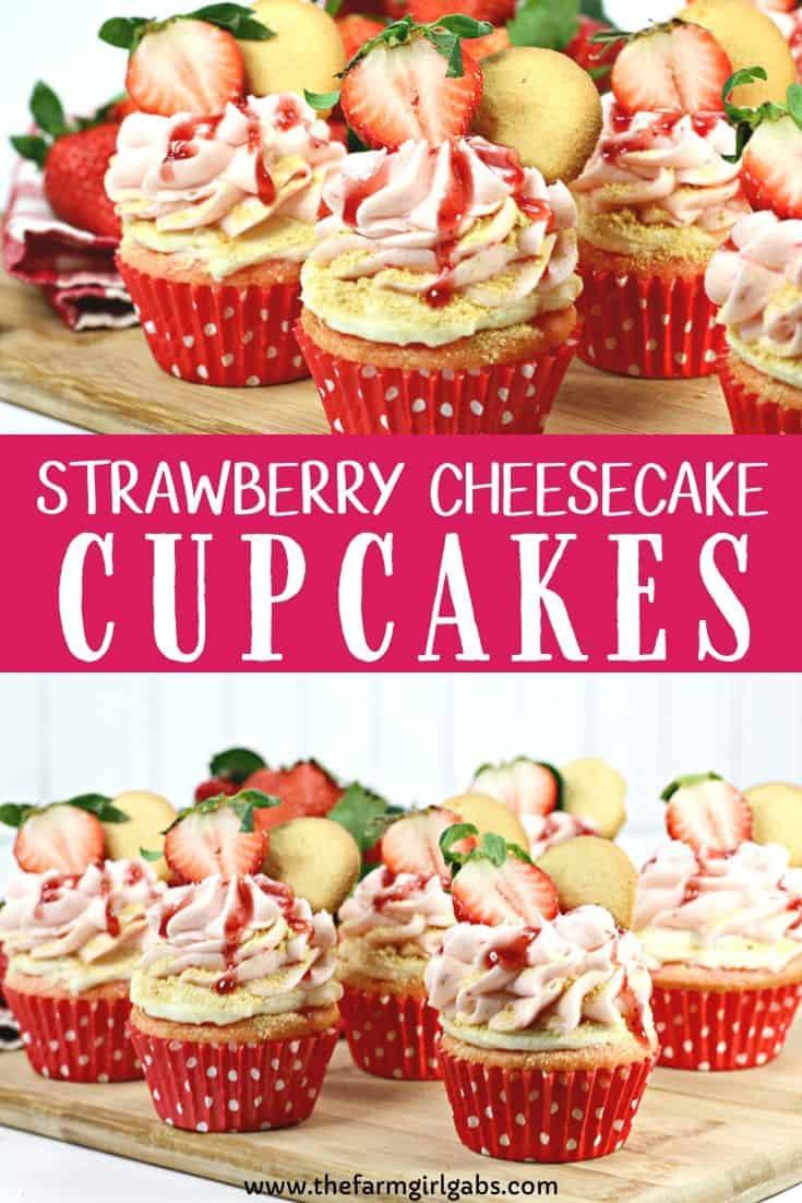 A Strawberry cupcake, fresh strawberries and a delicious cheesecake filling pair to make these delicious Strawberry Cheesecake Cupcakes. This strawberry cheesecake cupcake recipe is a real winner.
