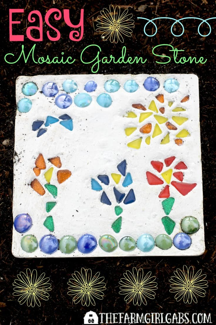 Refresh your lawn with Scotts® EZ Seed® and Create Your Own Mosaic Garden Stone to beautify your garden. AD #LoveYourLawn