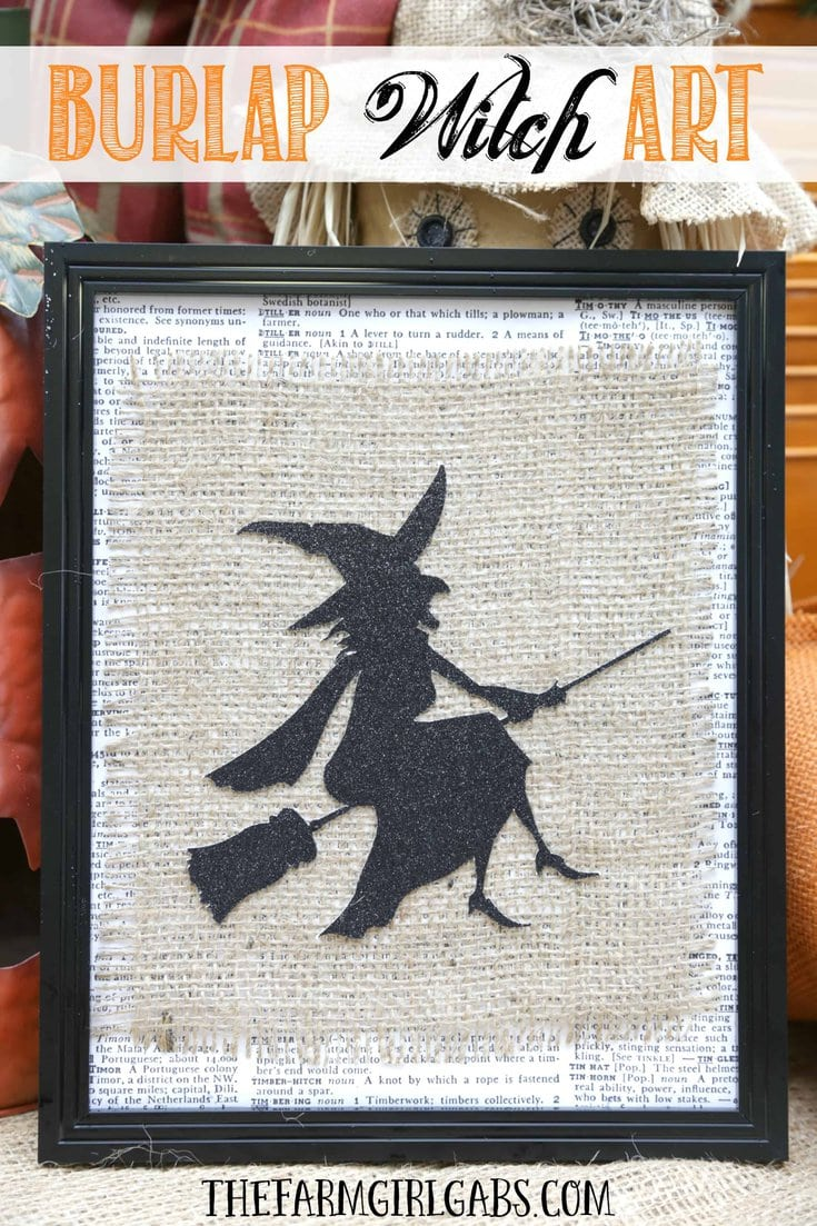 Add some bewitching fun to your Halloween decor. This simple Framed Burlap Witch Art is an easy DIY project to make.