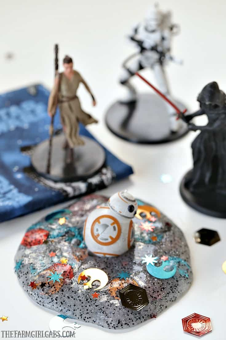 The force is strong with this slime project! No matter which side you're on, you'll rule the galaxy with this easy DIY Star Wars Slime.