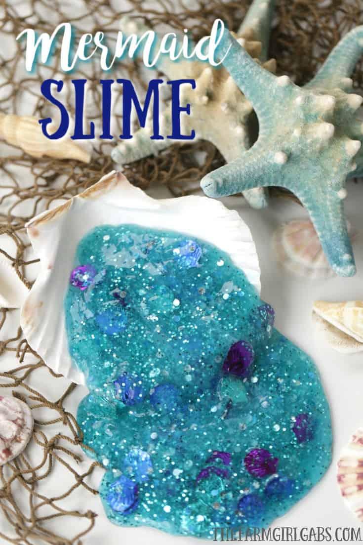 Mermaid Freezo Slime Clear Slime Australian Slime