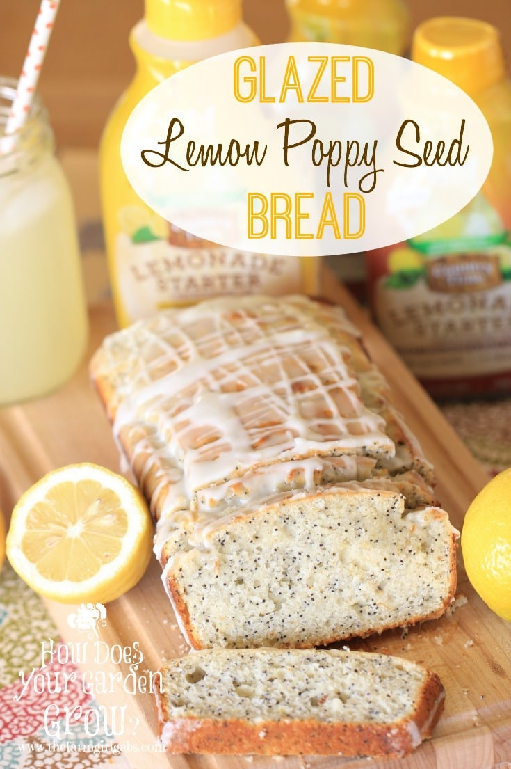 Glazed Lemon Poppy Seed bread is refreshing and packed with delicious lemon flavor. This recipe is perfect for breakfast, dessert or snack. #AD #PourMoreFun