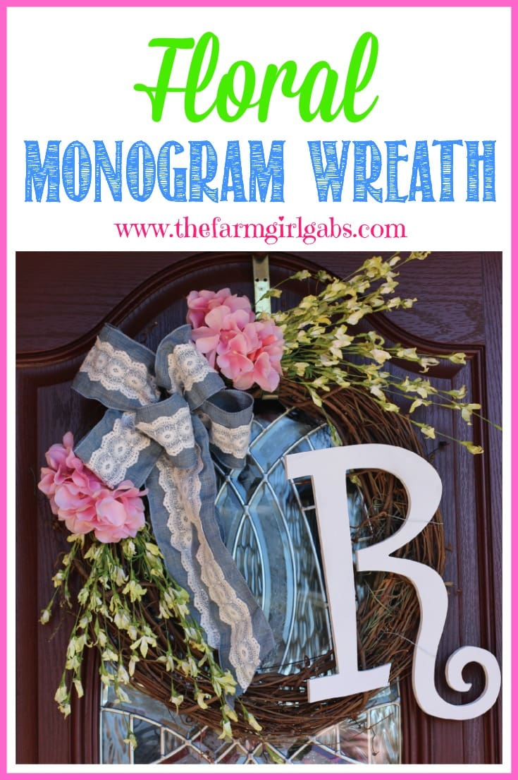 This Floral Monogram Wreath is a welcoming addition to your front door. This is a super simple craft project.