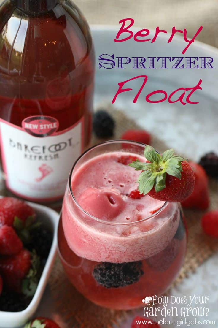 Barefoot Refresh® Berry Spritzer Float is a refreshing spritzer drink with raspberry sorbet.