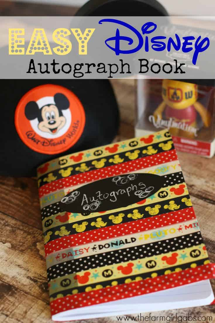Make your own Disney Autograph book for your next vacation to Walt Disney World or any of the Disney Parks.