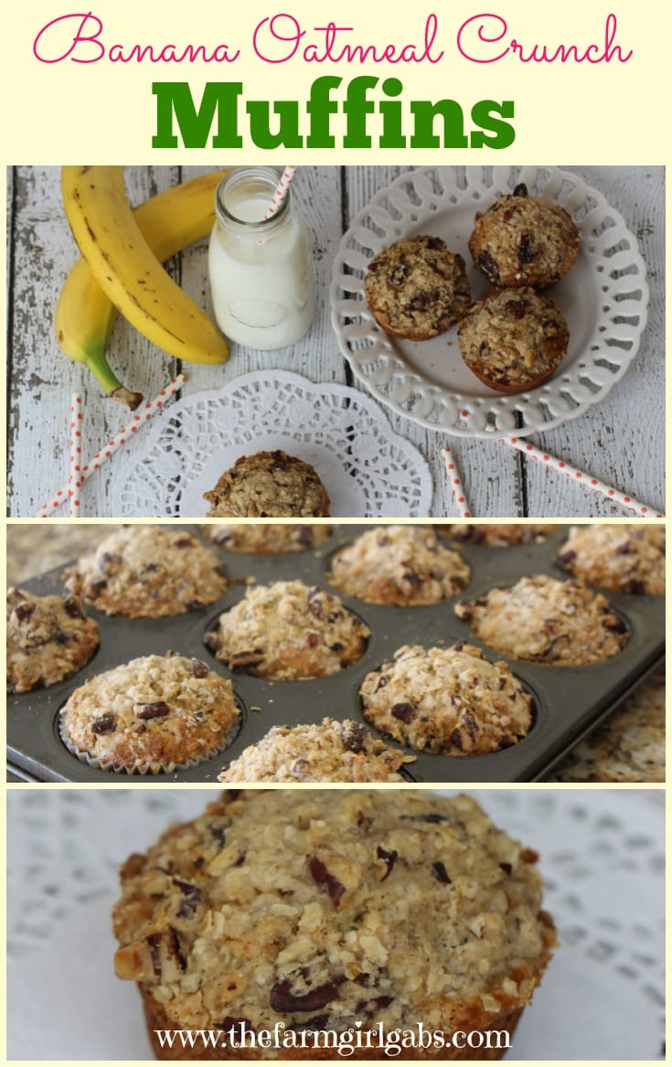 These Banana Oatmeal Crunch Muffins are power-packed with hearty oatmeal, sweet bananas and crunch pecan. This is a perfect recipe for breakfast, a mid-afternoon snack or even dessert.