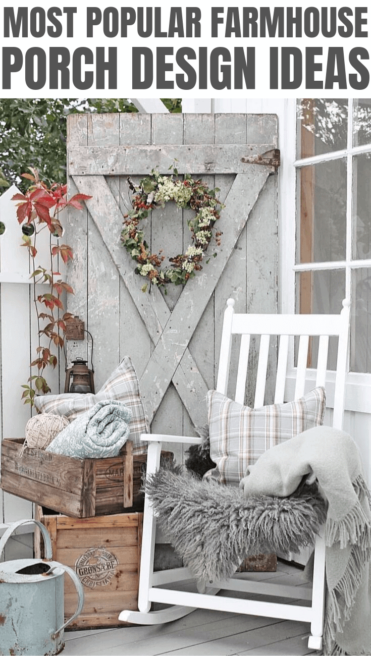 MOST POPULAR FARMHOUSE PORCH DESIGN IDEAS
