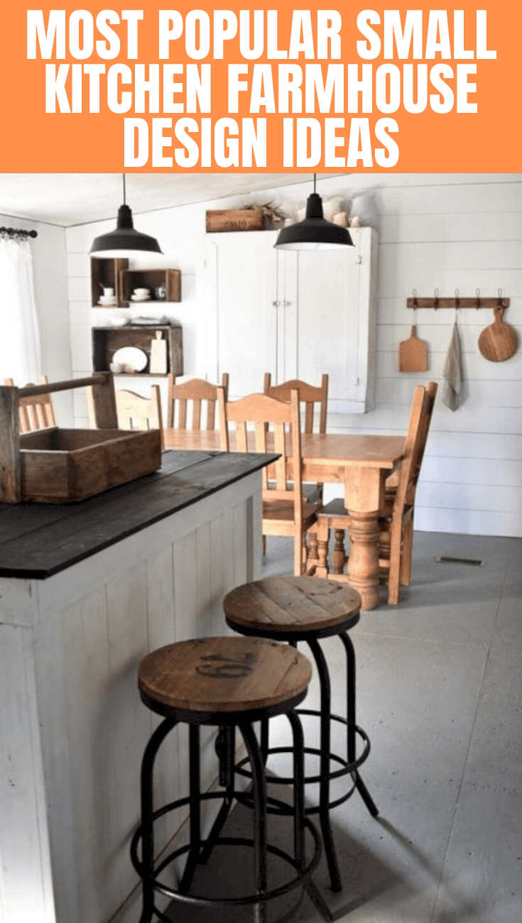 MOST POPULAR SMALL KITCHEN FARMHOUSE DESIGN IDEAS