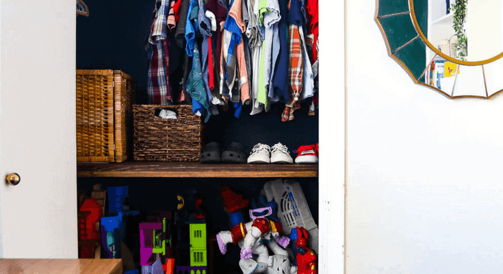 DIY Closet Shelves (AKA: How To Organize Your Kidu0027s Closet)