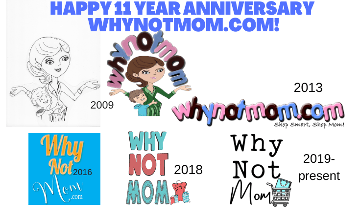 Celebrating the 11 year domain anniversary of Why Not Mom!