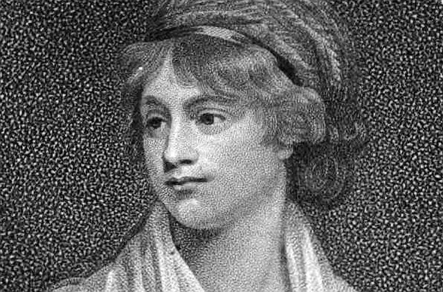 Picture: Mary Wollstonecraft - frontispiece of Memoirs of the author of A vindication of the rights of woman, William Godwin, 2d ed. 1798. James Heath (1757–1834), engraved from the painting of John Opie (1761–1807). Sourced from Wikmedia Commons. Believed to be in the public domain.