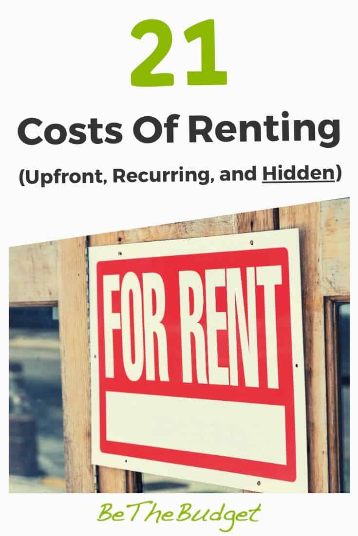 The 21 Costs of Renting | Be The Budget