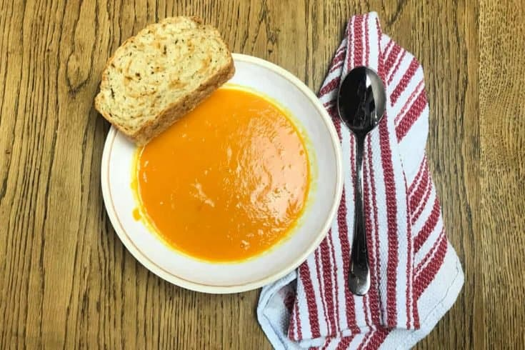 Easy Carrot Soup - Only 5 Ingredients!