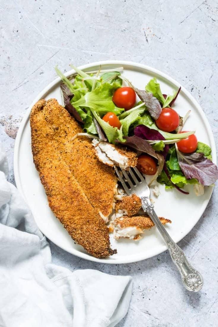 Best Crispy Golden Air Fryer Fish + Tutorial {Gluten Free, Low Carb}