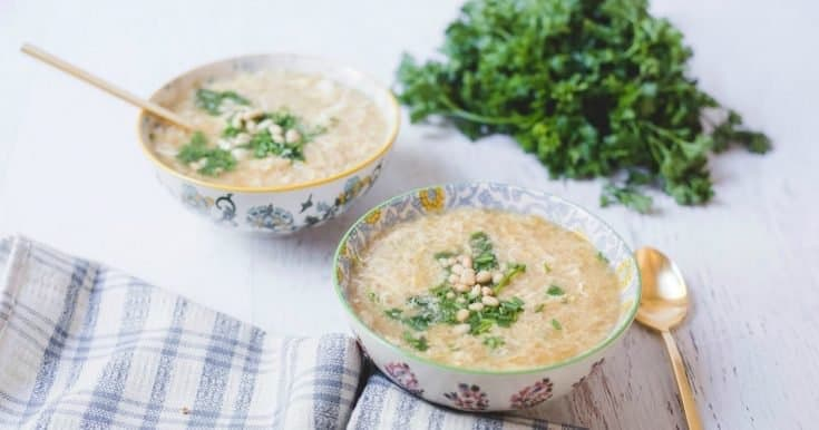 Italian Egg Drop Soup for Two!