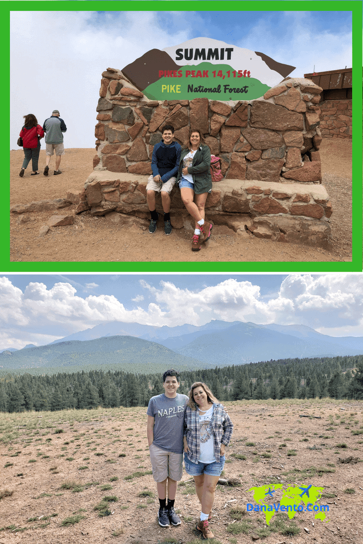 Pikes Peak With Top View at Summit