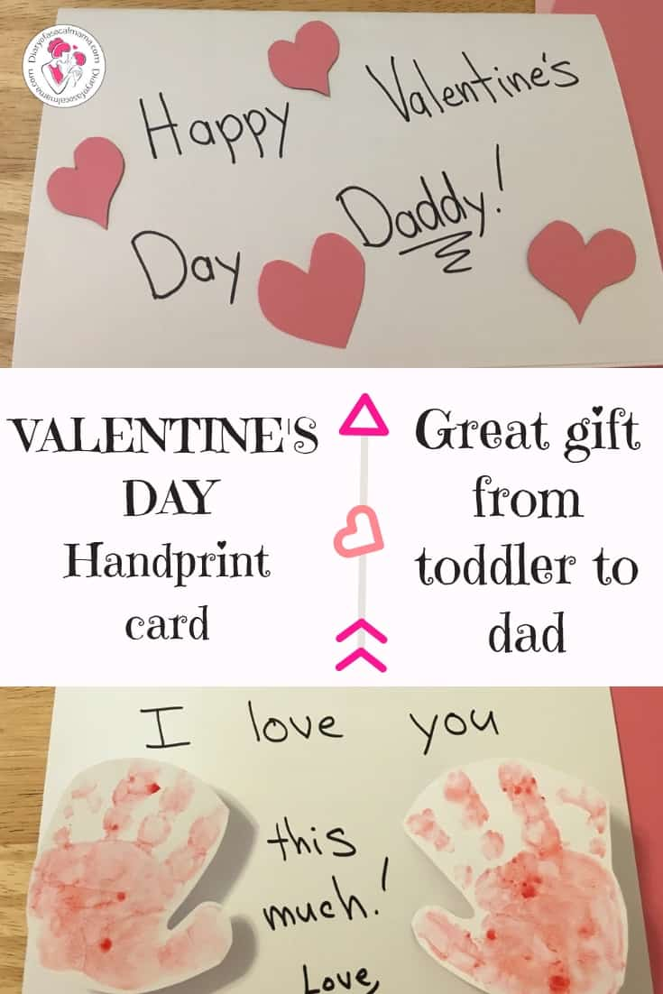 Valentine's Day handprint craft idea
