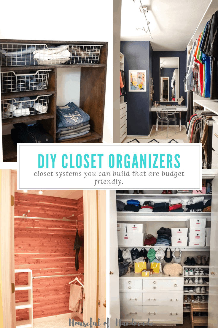 diy closet organizers collage of four diy closets