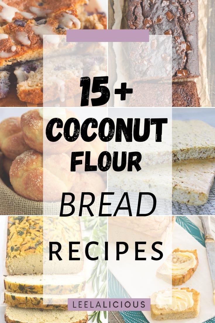 Coconut Flour Bread Recipes Collage