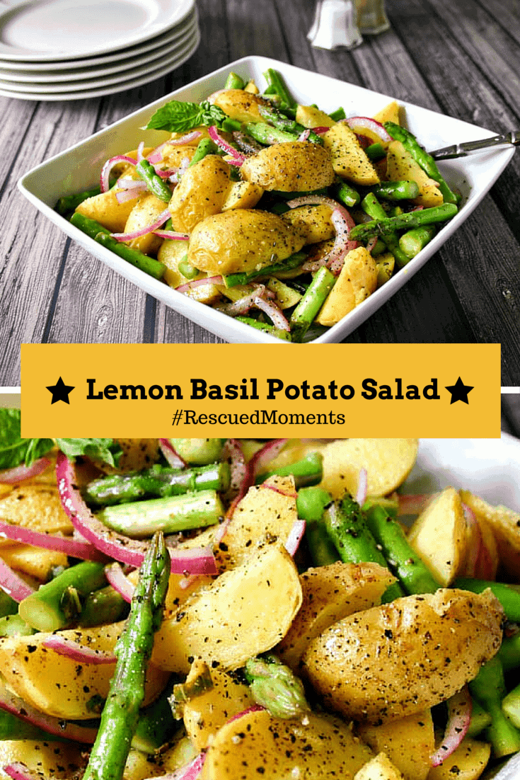 Lemon Basil Potato Salad | Life, Love, and Good Food #RescuedMoments