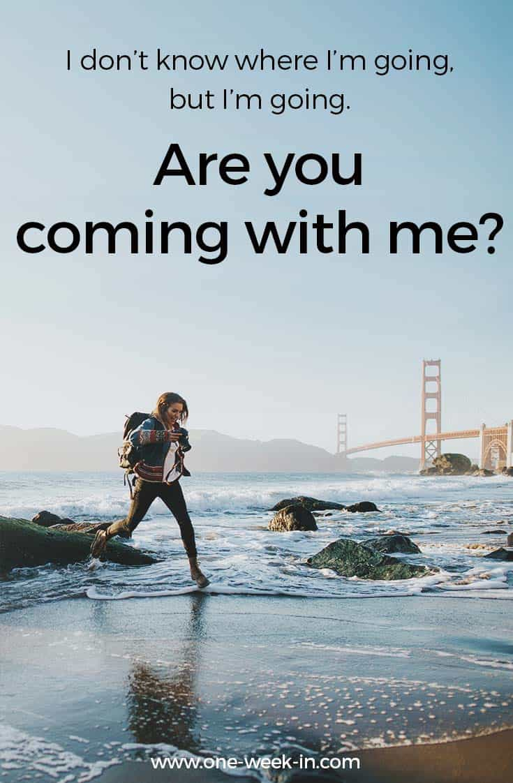 Funny quote - are you coming with me?