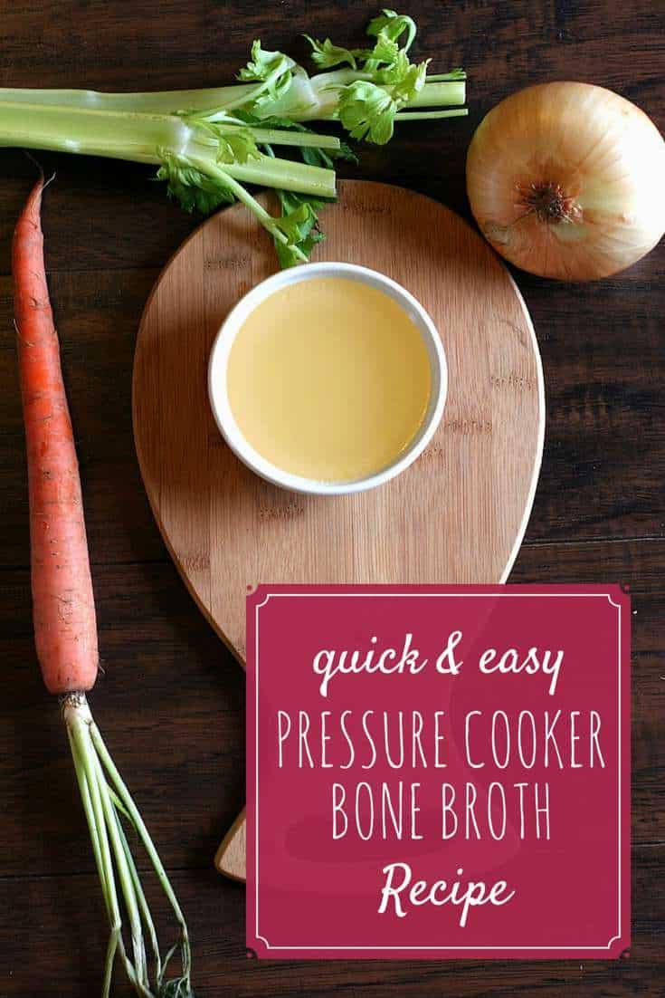 Quick and Easy Pressure Cooker Bone Broth Recipe   SimplePureBeauty.com