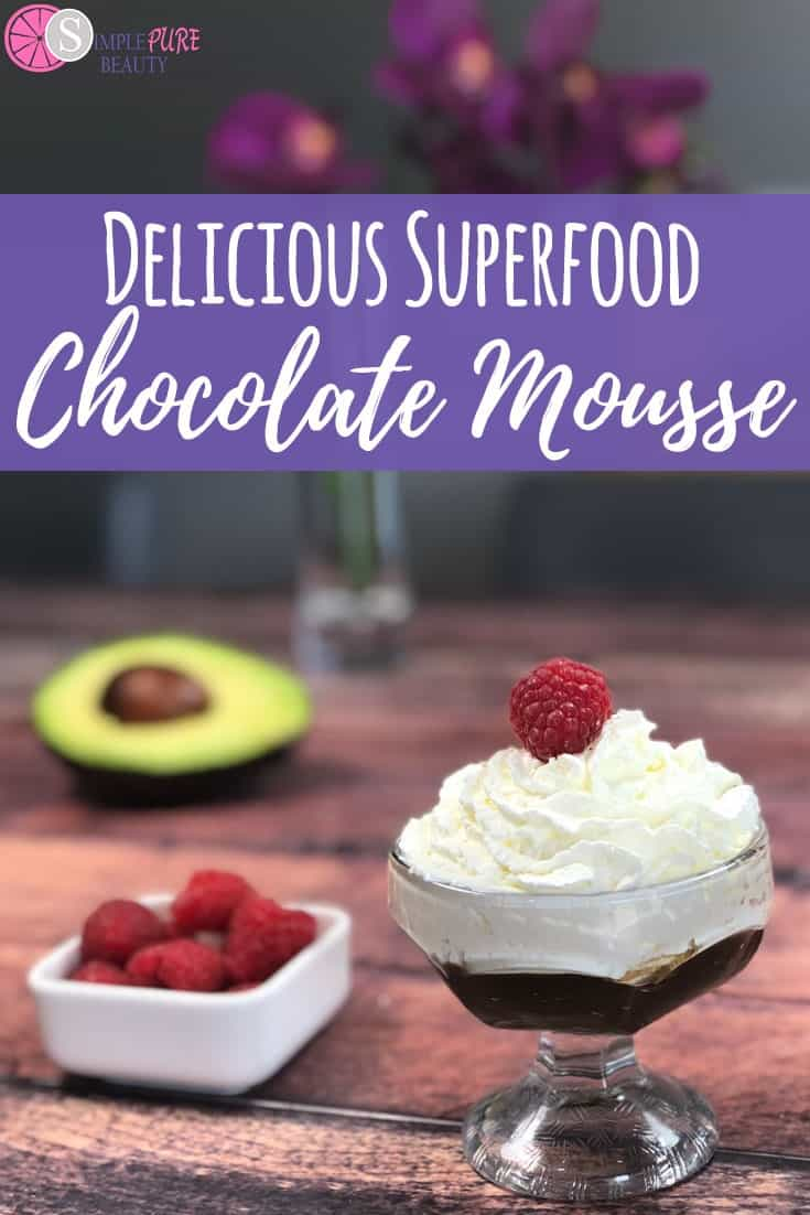Delicious Superfood Chocolate Mousse - Looking for a healthier option to get that chocolate mousse flavor without all the sugar and calories? You're going to fall in love with this Vegan Superfood Chocolate Mousse. #vegan #superfood #avocado #veganrecipes #dairyfree