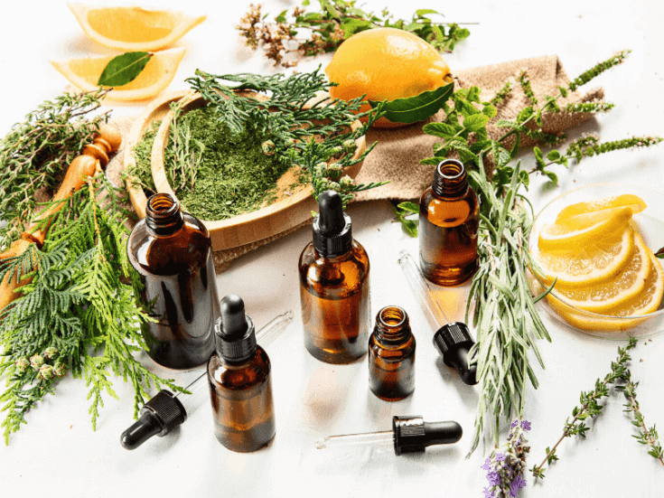 essential oils and herbs to use in homemade hairspray