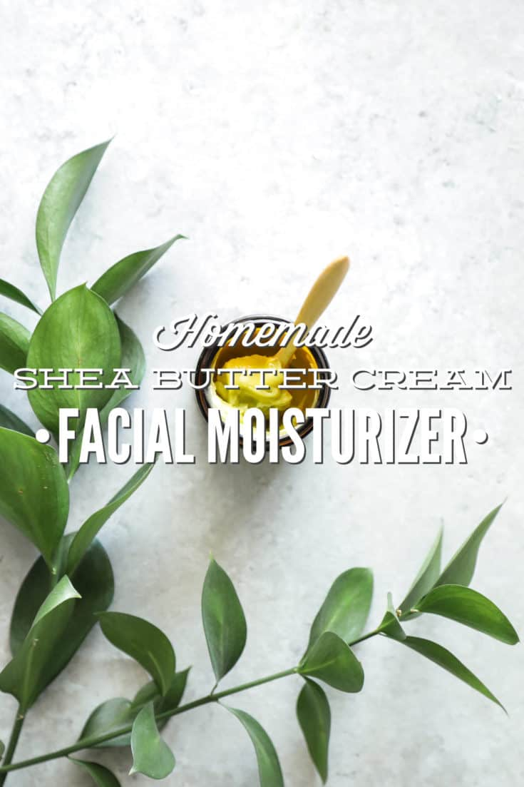 Homemade Shea Butter Cream Facial Moisturizer