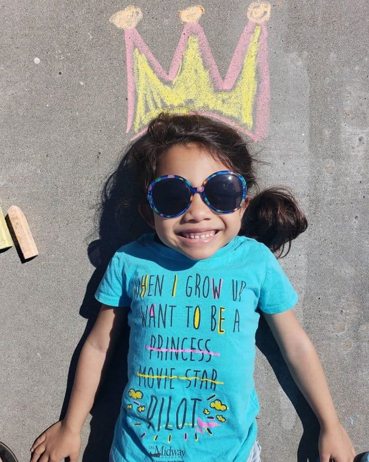 """I ♡ my crown. Had fun in the sun 🌞#mytypeofquarantine #sidewalkchalkfun"""