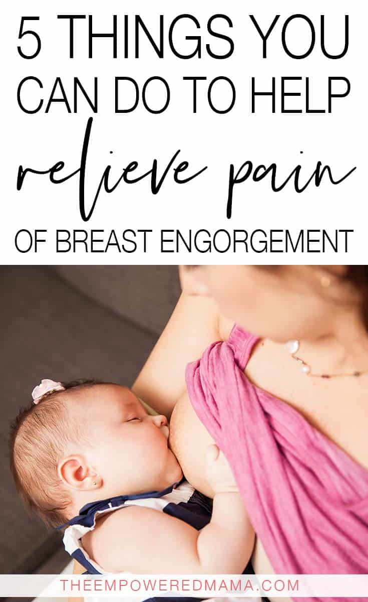 In the early days of breastfeeding, some women experience pain of breast engorgement, especially when their milk comes in. Here's how you can help relieve the pain and avoid having breast engorgement in the future.
