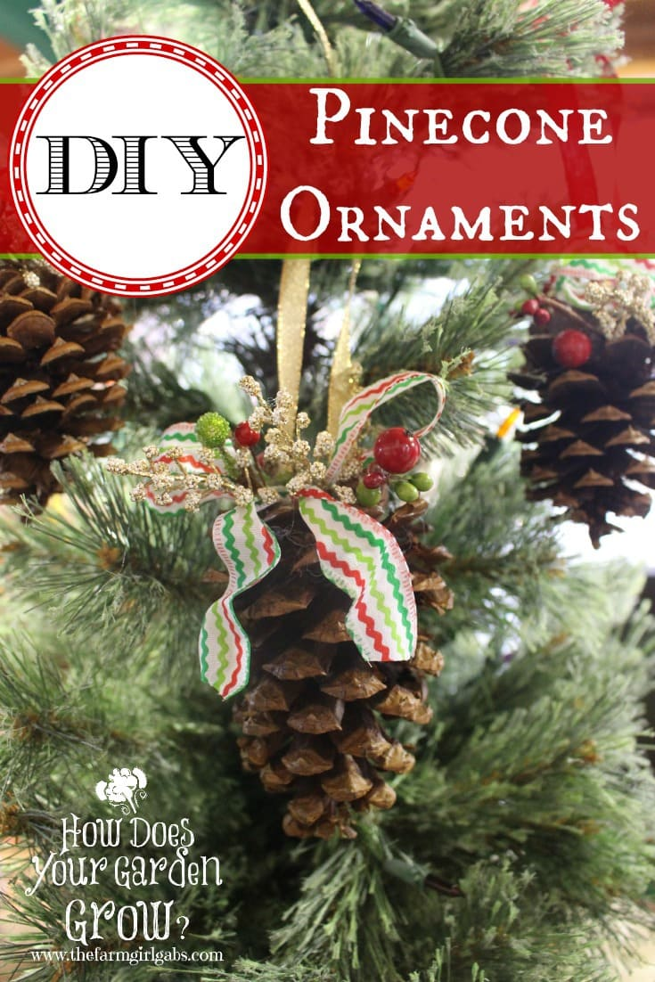 Pine Cone Christmas Ornaments To Make.Rustic Pinecone Ornaments Www Thefarmgirlgabs Com