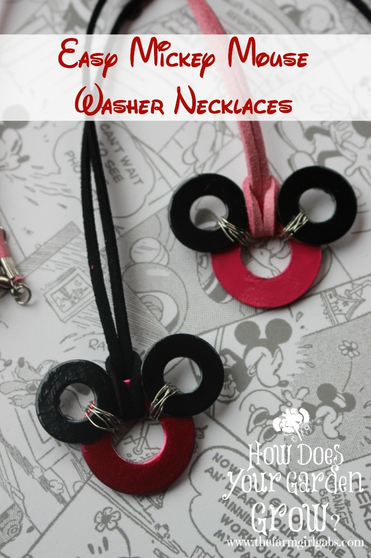 Learn how to make these Easy Mickey Mouse Washer Necklaces. They are perfect to show your #DisneySide or wear on your next Disney vacation.