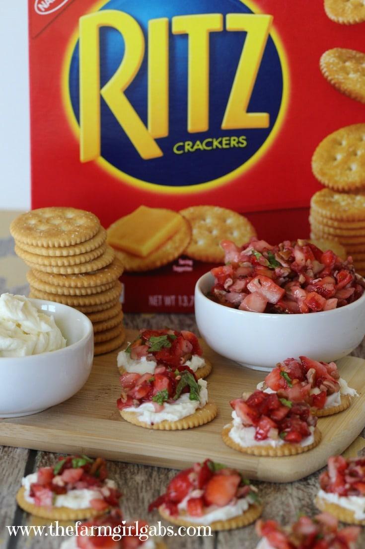 RITZ® Strawberry Bruschetta Bites - #AD #PutItOnARitz