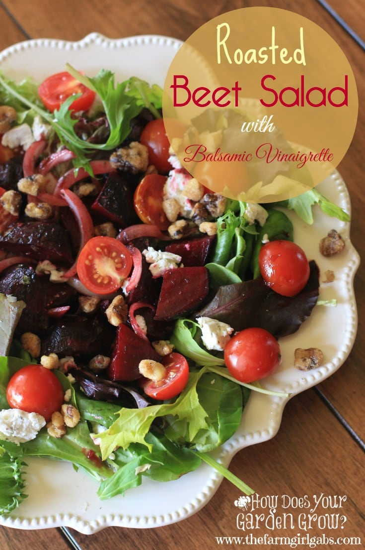 Do you have beets growing in your garden? Or did you pick some up at your local farmers' market? Here is a delicious and easy salad recipe. Try roasting them. You'll love their flavor!