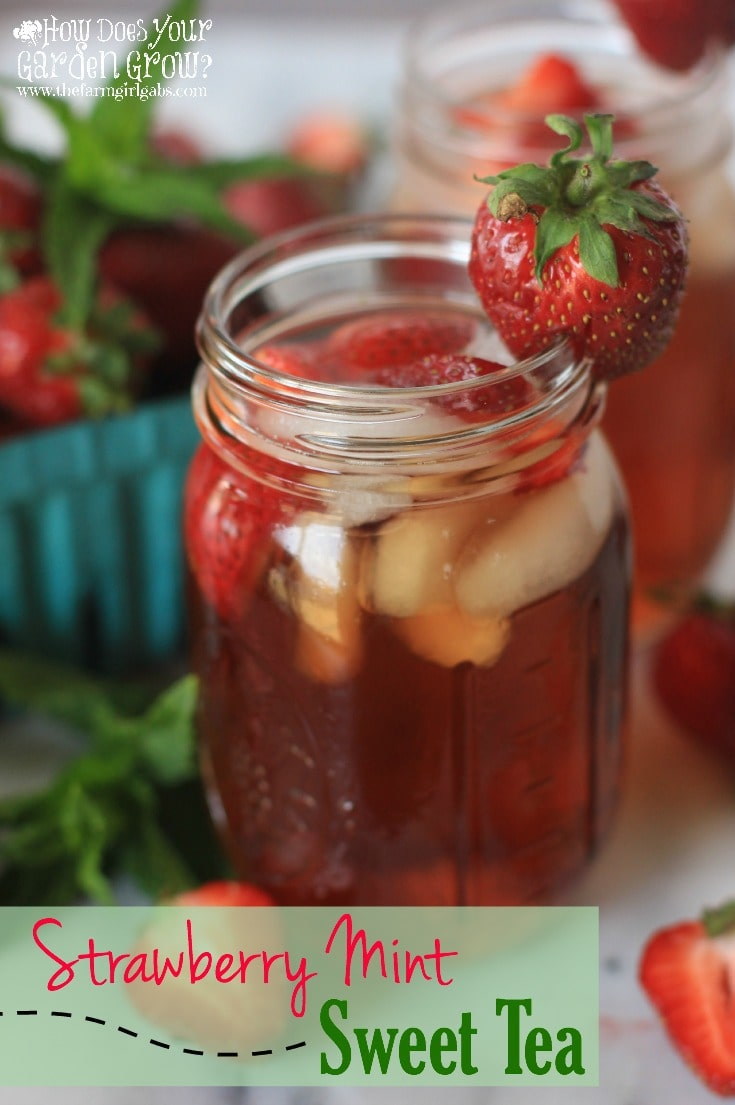 Do you love Iced Tea as much as I do? You have to try this refreshing Strawberry Mint Sweet Tea recipe made with Bigelow American Breakfast Tea. It is the perfect cool-down drink recipe for a hot summer's day. #MeAndMyTea #co