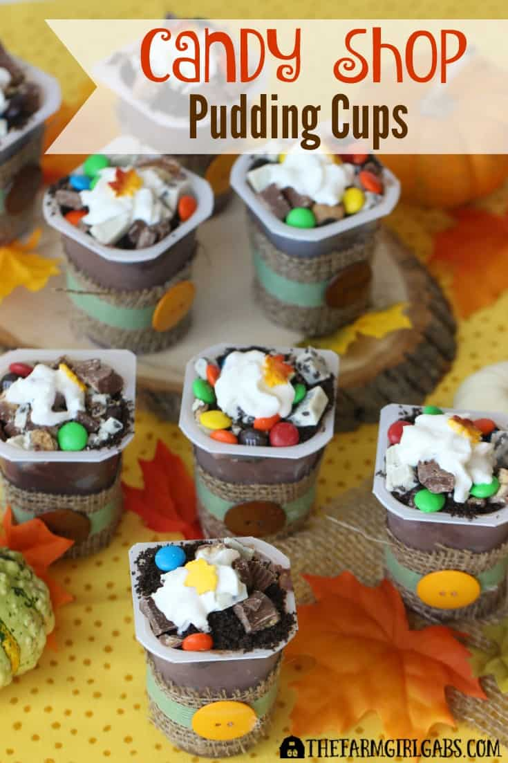 Candy Shop Pudding Cups, made with Snack Pack Pudding Cups, are the perfect dessert to make with all the left over Halloween Candy your kids racked up. [Ad] #SnackPackMixIns @Walmart