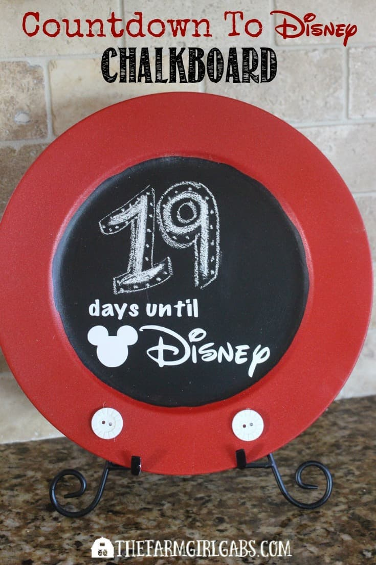 This Disney Countdown Chalkboard is the perfect way to count the days until your next Disney vacation.
