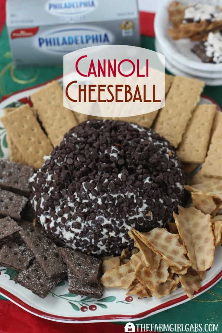 This easy make-ahead Cannoli Cheeseball recipe with be the hit of your next party. This no-bake dessert can be made in advance too! [Ad] #NaturallyCheesy
