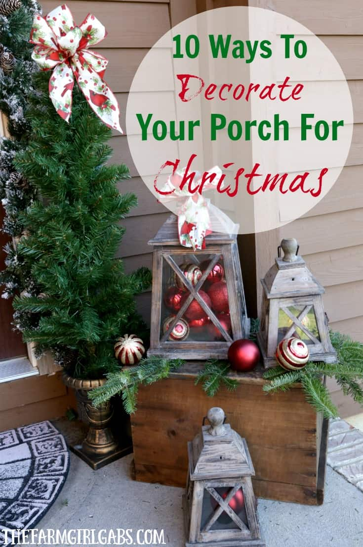 It's time to deck the halls for Christmas! Here are 10 Ways To Decorate Your Porch For Christmas. #Ad #BoscovsHolidayHomeTour