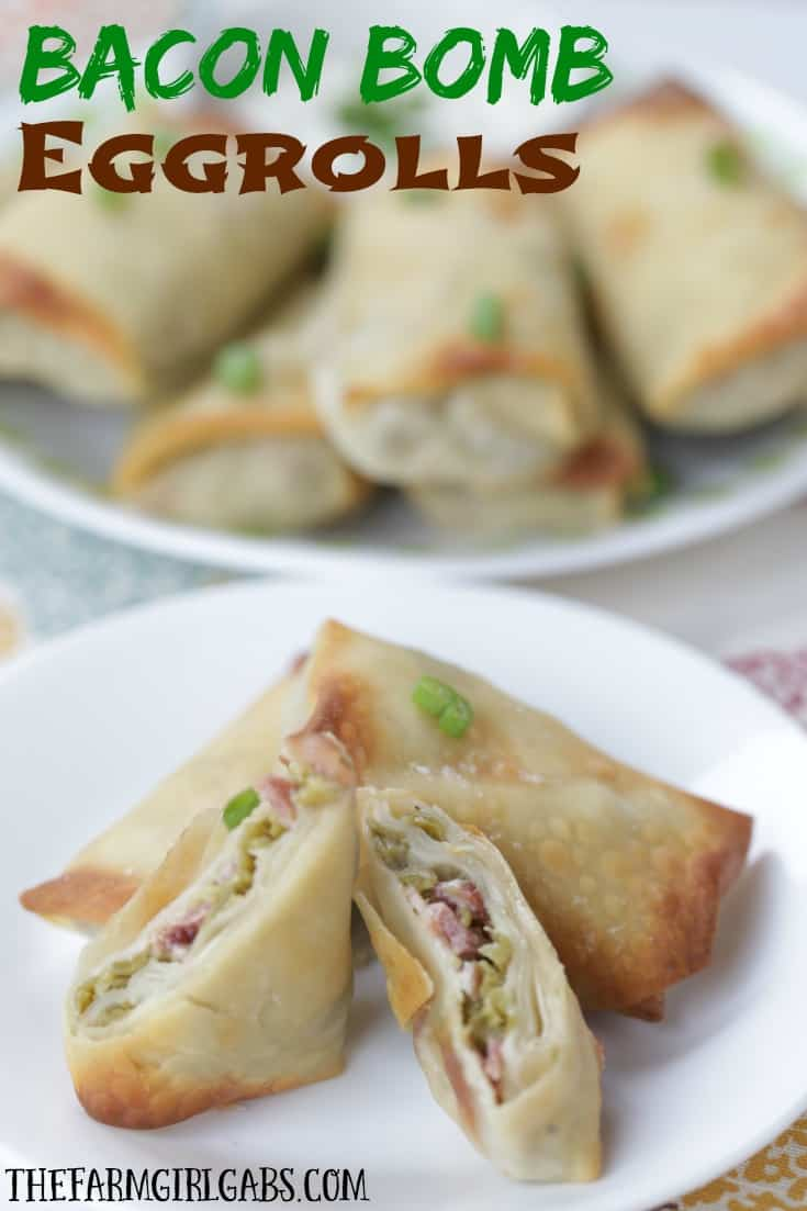 Hosting a party, Thanksgiving or Friendsgiving this year? Try this Bacon Bomb Eggrolls recipe. It's an easy and delicious appetizer! #AD #GiveThanksBeFull