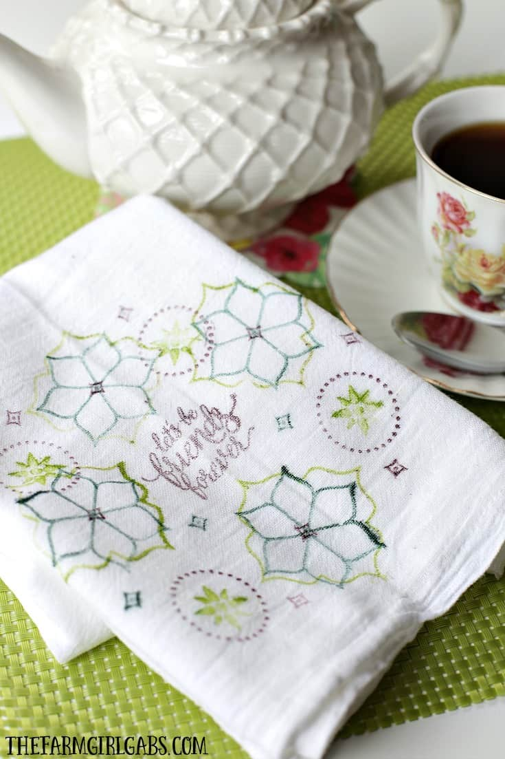 This easy DIY Stamped Friendship Tea Towel is the perfect gift from the heart. Make one to giveand make one to keep.