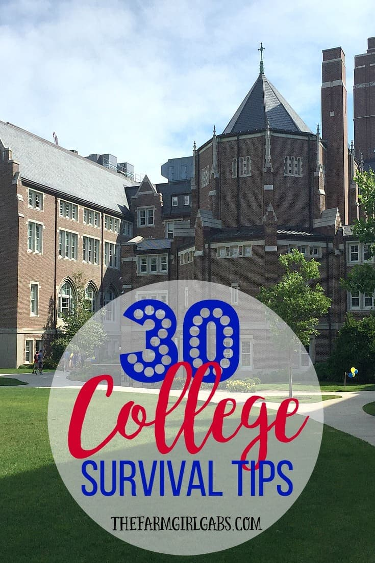 30 College Survival Tips to make your college days fun and successful. #Ad #BackToBold
