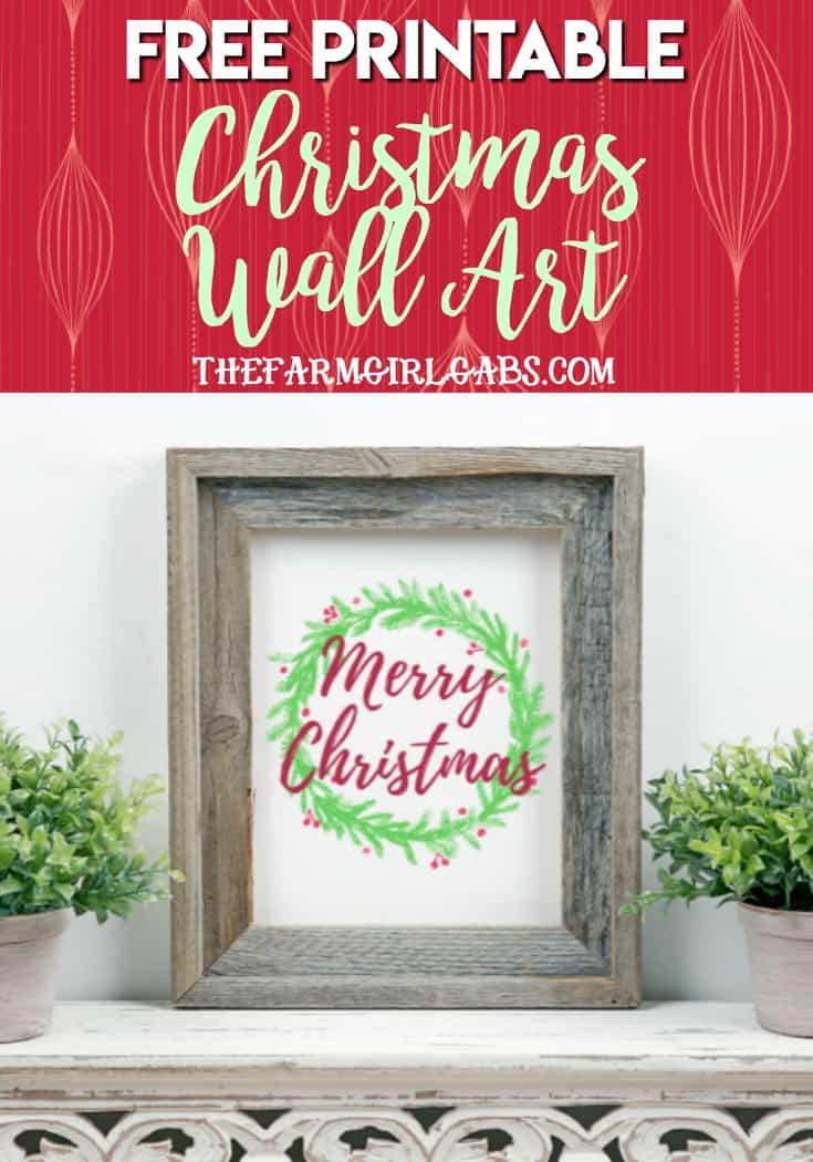 photograph regarding Merry Christmas Printable named Free of charge Merry Xmas Printable - The Farm Female Gabs®