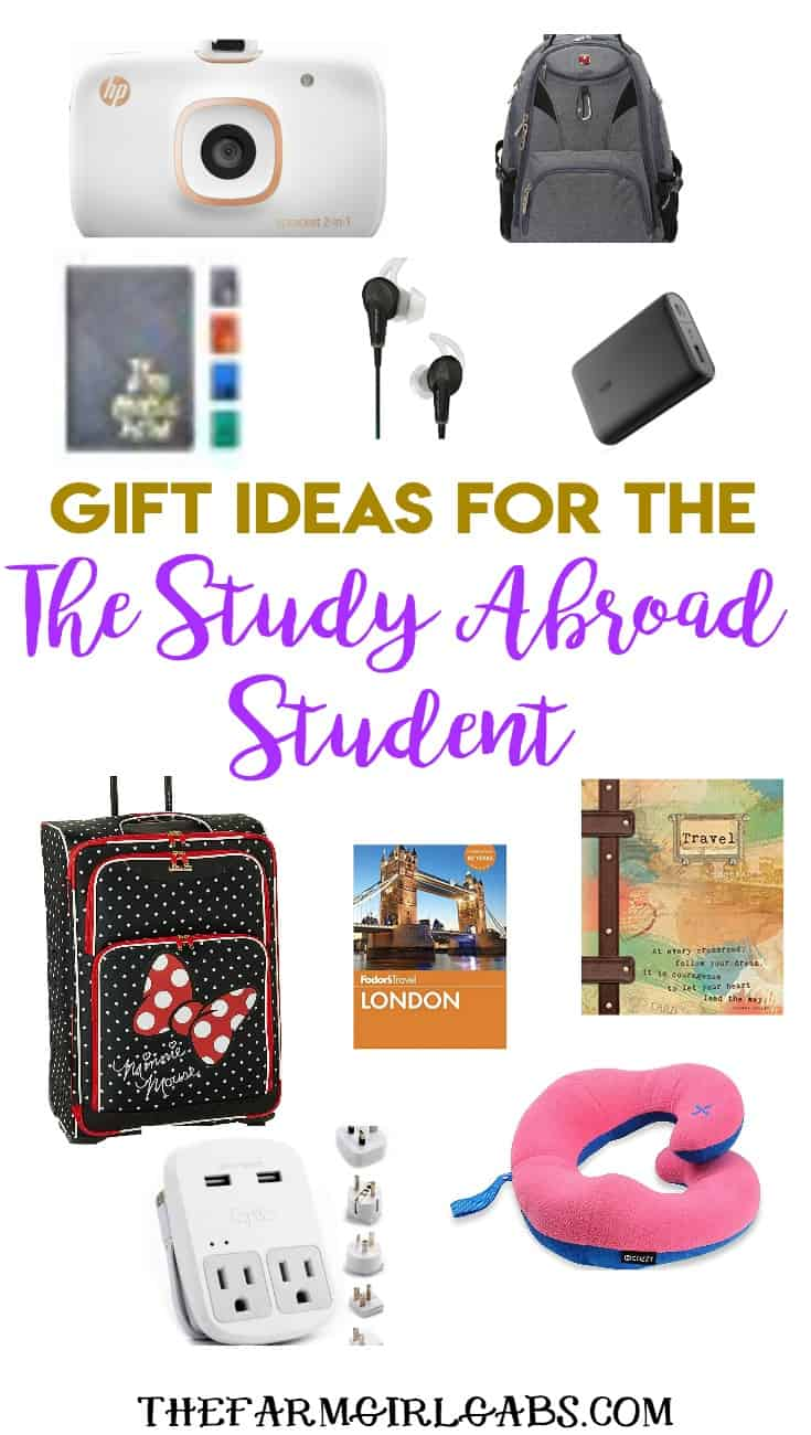 Looking for a gift idea for your college student planning to study abroad? I have some fun, stylish and practical travel Gift Ideas For The Study Abroad Student. #Gift Ideas #CollegePlanning #Travel