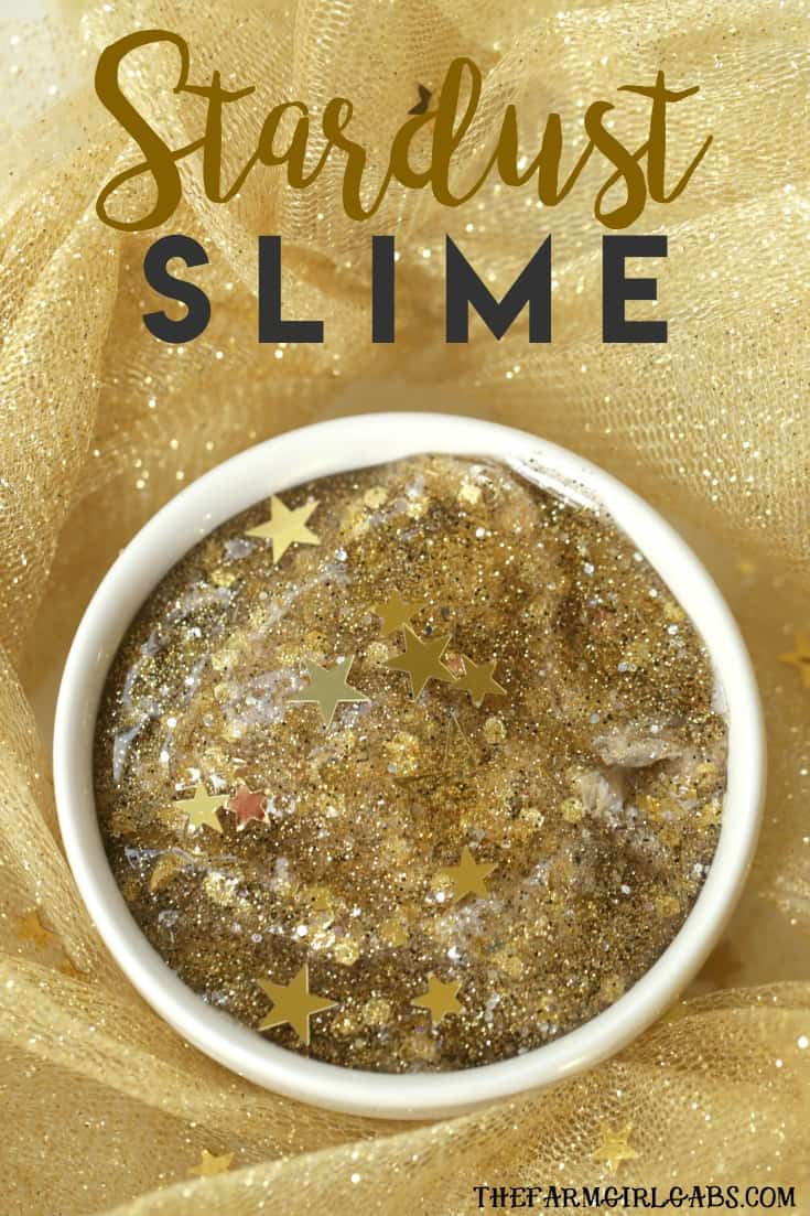 Catch a falling star and make some fun Stardust Slime. This celestial slime recipe will keep the kids busy for hours. #slime #slimerecipe #craft #kidscraft #DIY #recipe